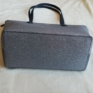 kate spade Bags - Kate Spade Glitter Joeley Large Silver Tote Bag